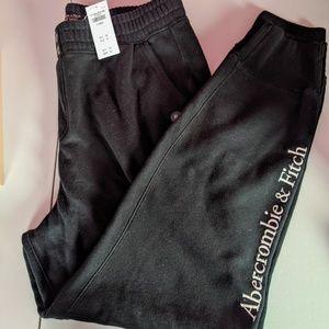 Abercrombie & Fitch NWT black sweatpants XL